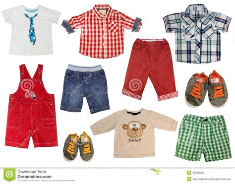 set of boy kid clothes isolated stock image image 40500009