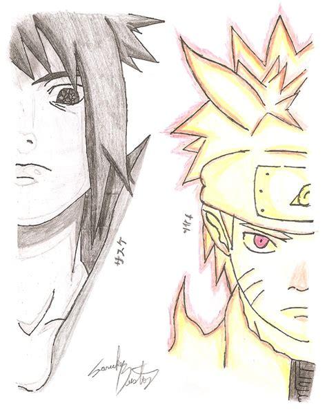 V Anime Drawing by Sasuke Ems Vs Rikudou Mode By Iithedarkness94ii On