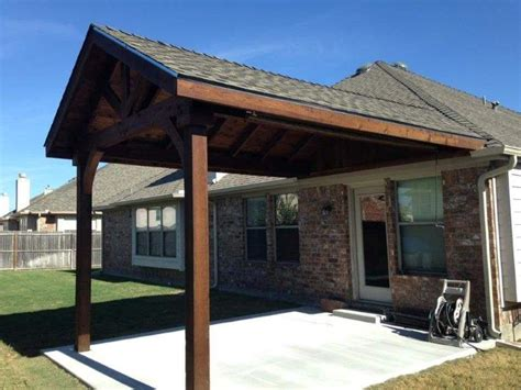 Open Gable Patio Cover.Blue Gable Roof Pergola. Showing 1