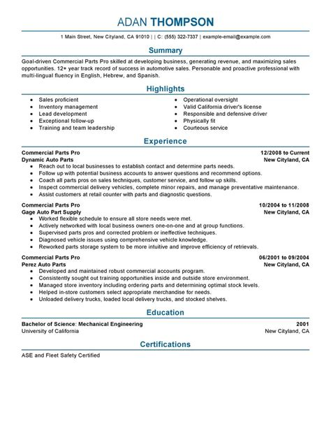 parts of resume resume ideas