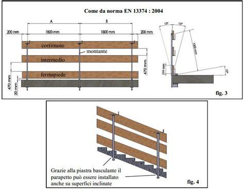 altezza corrimano scale parapetto anticaduta provvisorio a morsa per parapetti