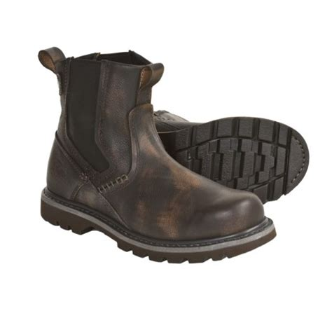 most comfortable slip on work boots slip on work boots rock review of caterpillar revival