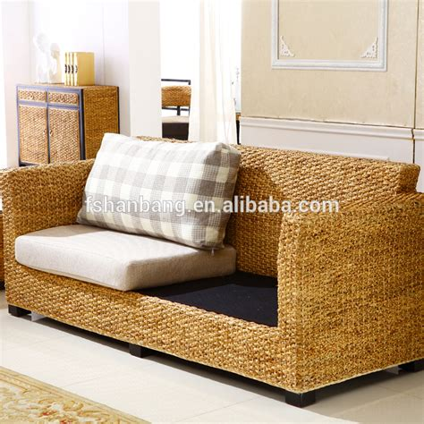 Seagrass Living Room Furniture Indoor Sunroom Rattan Seagrass Wicker Conservatory