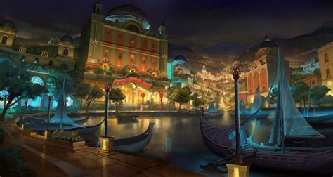 wallpaper abyss fantasy city city wallpaper and background 1600x851 id 324089
