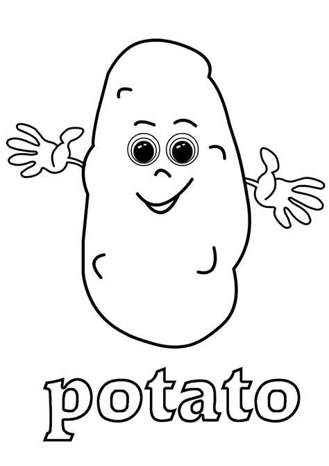 The Garden Song English Vegetable Vocabulary Potato Coloring Pages