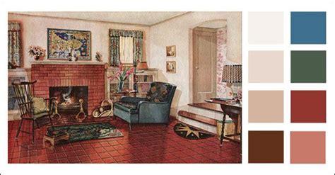 earth tone colors living room 1928 armstrong linoleum living room retro home pinterest