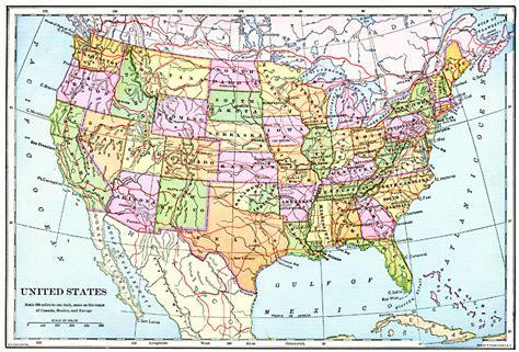america map line united states