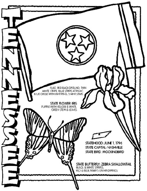tennessee coloring page crayola com