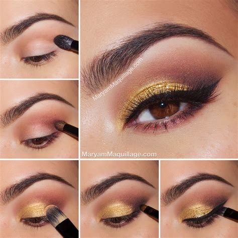 Eyeshadow Gold Tutorial makeup tutorial smokey gold makeup vidalondon