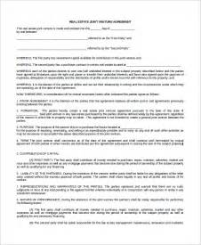 Letter For Joint Venture Sle Sle Joint Venture Agreement 9 Exles In Word Pdf