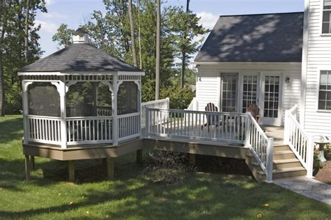 gazebo deck deck gazebos vinyl gazebo deck craft plus llc