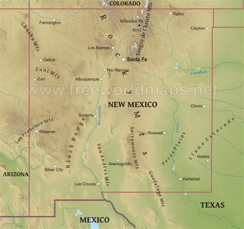 maps of new mexico new mexico mountains map mexico map