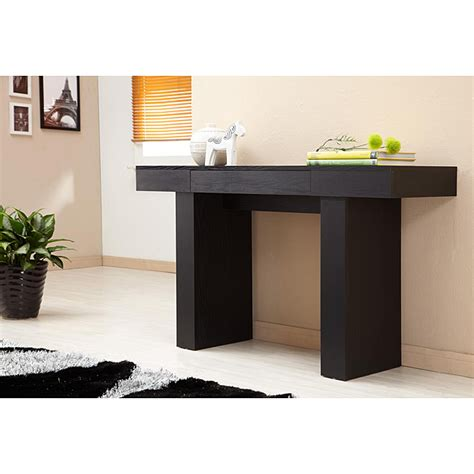 modern sofa table perry modern black finish sofa table by enitial lab