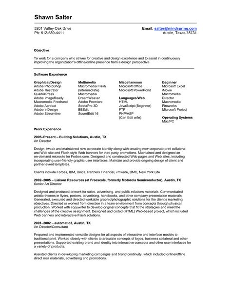 Resume Template On Free Resume Templates Executive Exles Senior It With