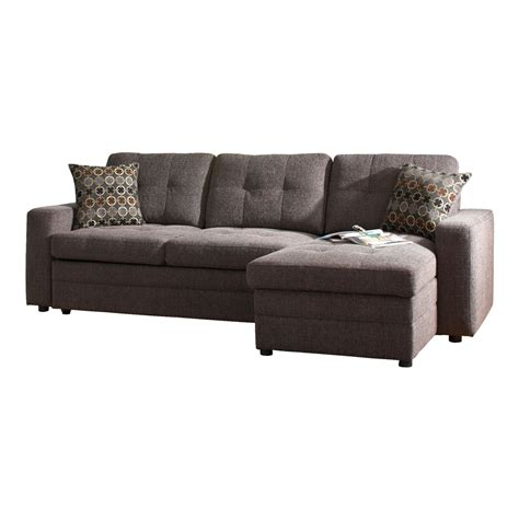 shop sectional sofas shop coaster fine furniture gus charcoal chenille