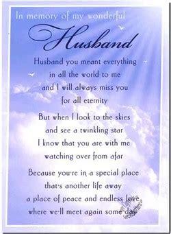 husband memorial poems