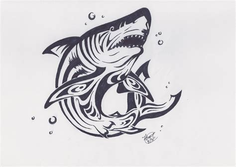 tribal shark tattoo meaning tribal shark by lillim00 on deviantart