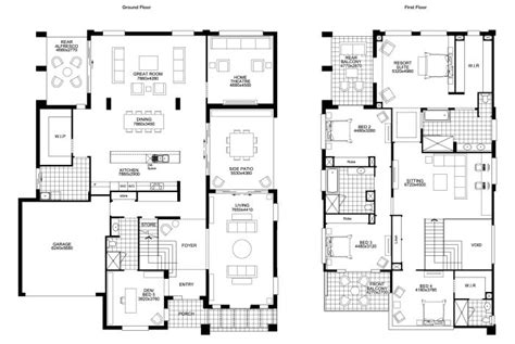 sle floor plan for 2 storey house 2 floor house plans floor plan friday big double storey bedrooms building
