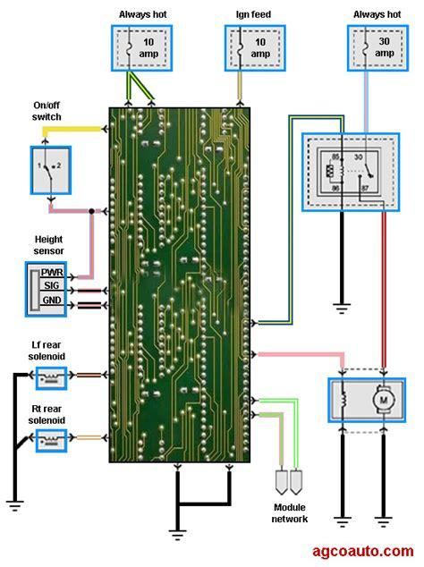 air suspension wiring diagram air ride solenoid wiring diagram 32 wiring diagram