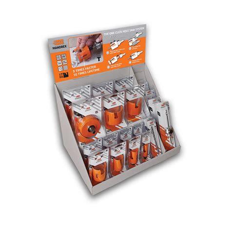 Kit Multi Purpose mandrex counter display kit multi purpose tct holesaws apex uk