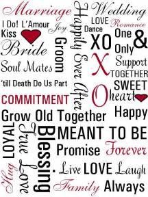 wedding word print inspiration