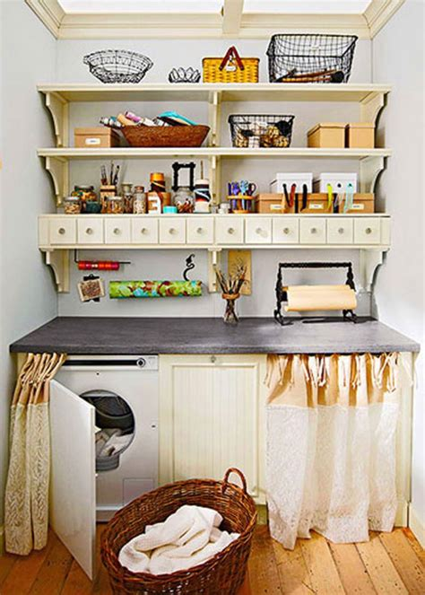 Kitchen Island With Microwave by 20 Briliant Small Laundry Room Storage Solutions