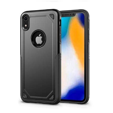 apple iphone xr protective hybrid shockproof black