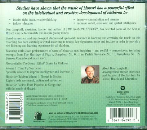 Cd The Mozart Effect For Babies Vol2 the mozart effect for children vol 2 cd