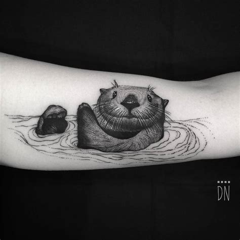 sea otter tattoo sea otter for kristen