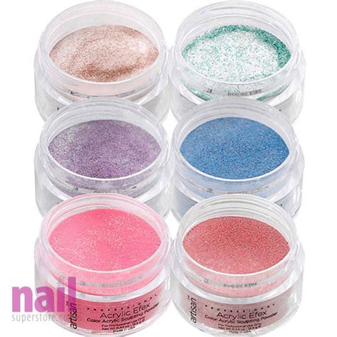 acrylic color powder artisan colored acrylic nail powder glitter colors