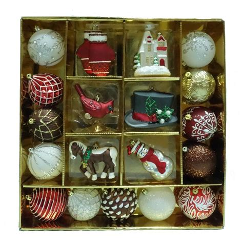 martha stewart living pepperbery lane ornament set 19