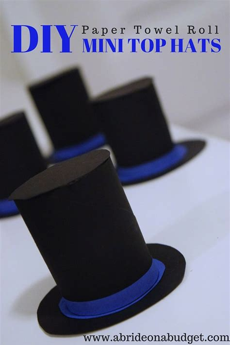 How To Make A Paper Top Hat - 25 best ideas about mini top hats on top hats