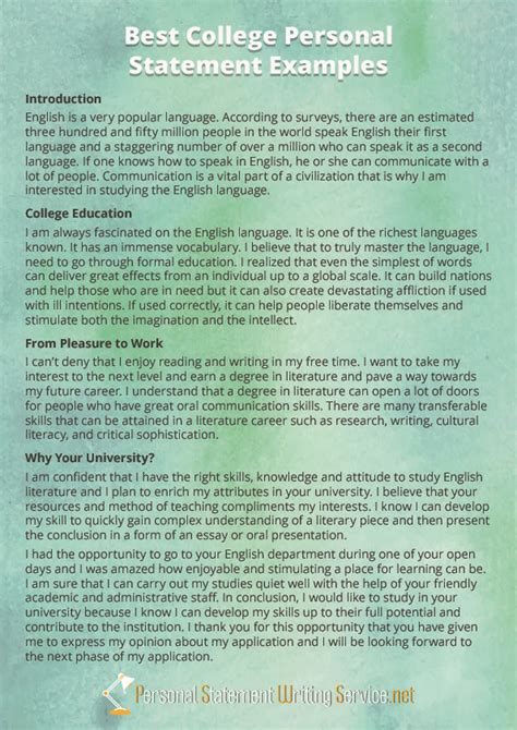 college personal statement exles ideal vistalist co