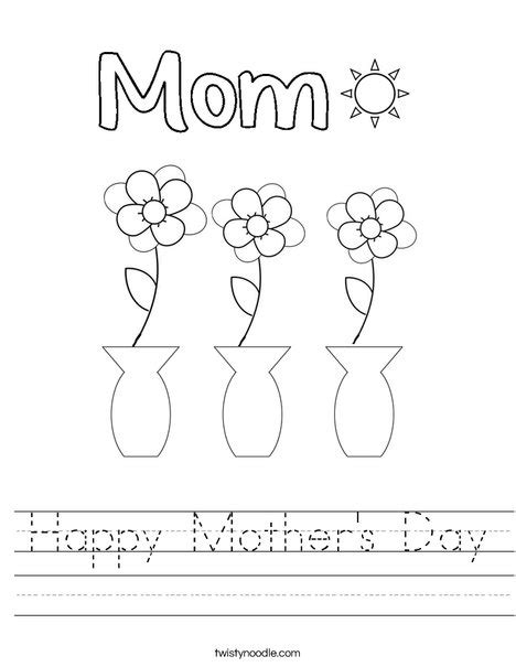 Toddler Happy Mothers Day Card Microsoft Template by Happy S Day Worksheet Twisty Noodle
