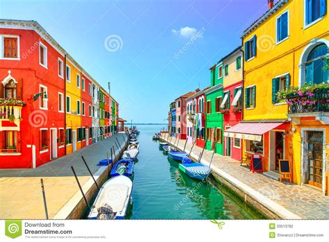 New England House Plans venice landmark burano island canal colorful houses and