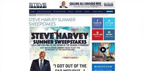 Steve Harvey Show Christmas Giveaway - steveharveytv com season4sweep the steve harvey summer sweepstakes
