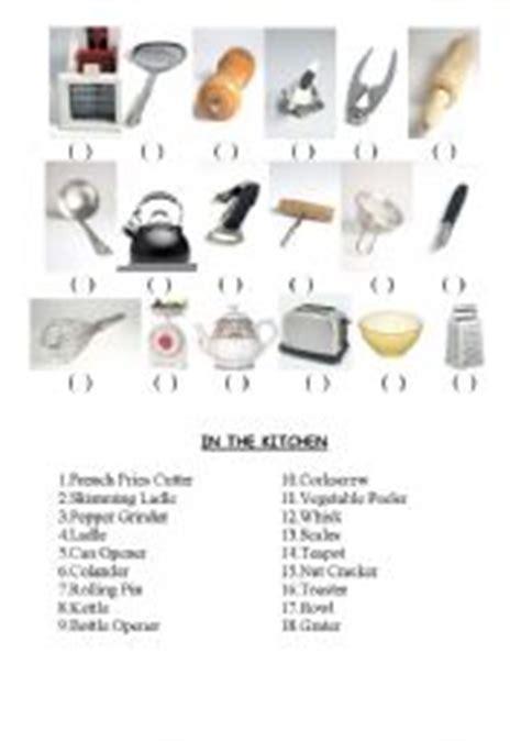 Kitchen Utensils Worksheet Pdf by Worksheets Kitchen Utensils