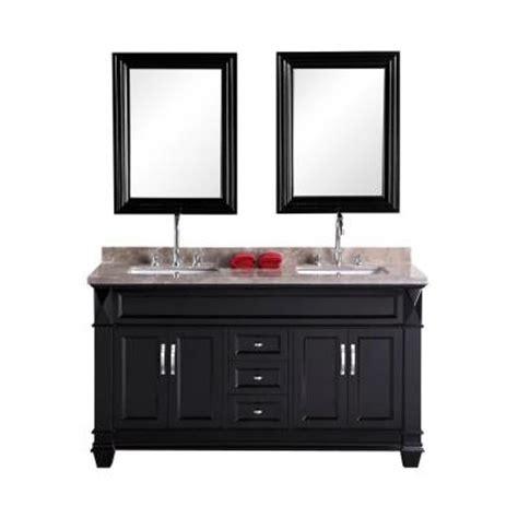 design elements vanity home depot design element hudson san marino 60 in w x 22 in d vanity in espresso with marble vanity top