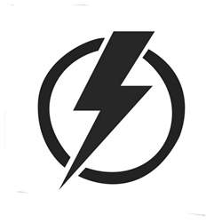 energy lightning power electric electricity logo by andrea