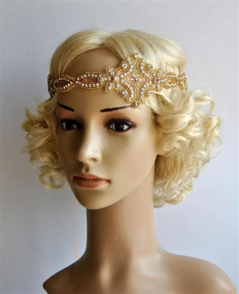 how to make a grate gatsby headpieces gold gatsby headband 1920s flapper headpiece rhinestone