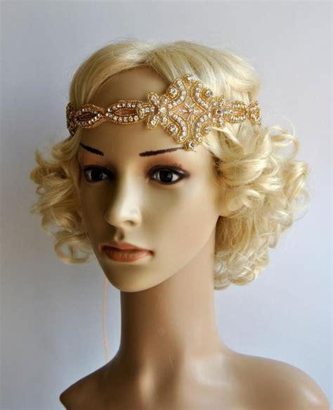 how to make a gatsby headpiece gold gatsby headband 1920s flapper headpiece rhinestone