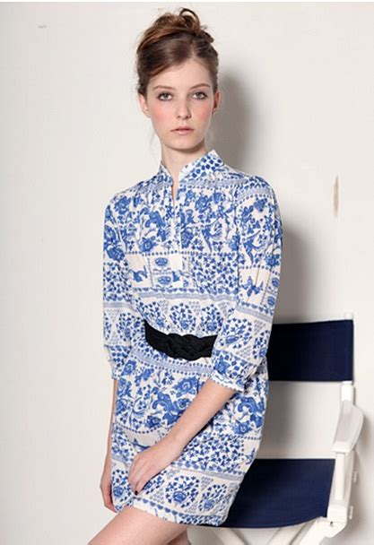 Wendy Minidress 1 blue and white just