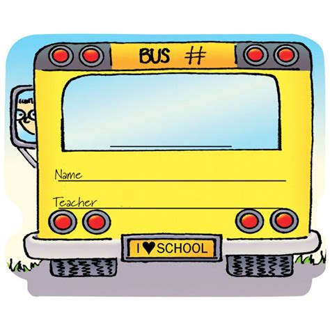 printable bus tags for students school bus stickers