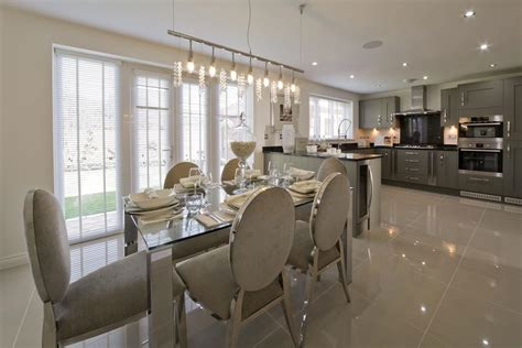 show home interiors ideas grey silver kitchen taylor wimpey show home kitchen