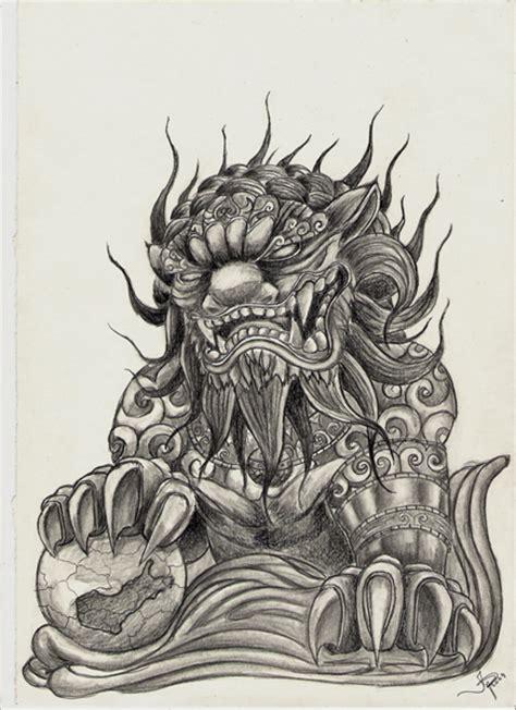 harhakuva moon scorpion foo dog tattoo tattoomagz com
