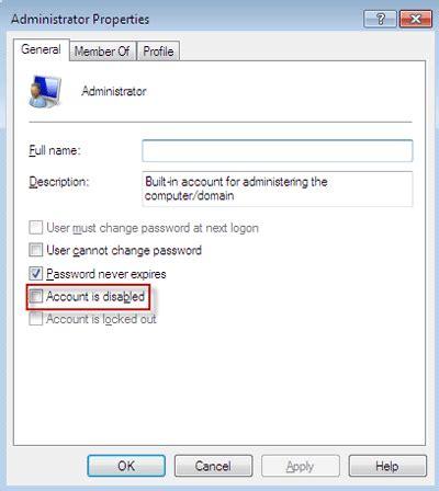 reset admin password in vista home premium set administrator password windows 7 home premium