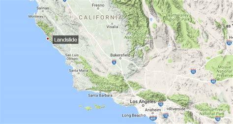 map us hwy 1 wordlesstech california s highway 1 landslide