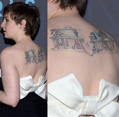 lena dunham s tattoos artistic design tattoo on upper