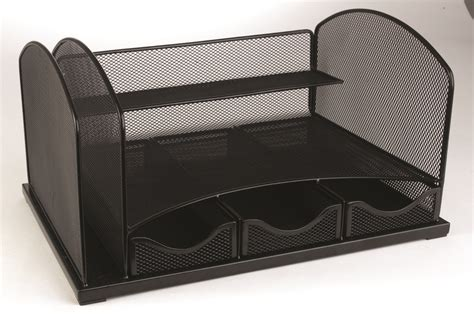 staples desk organizer mesh staples mesh metal desk organizer with drawers 8 1 4 quot h x