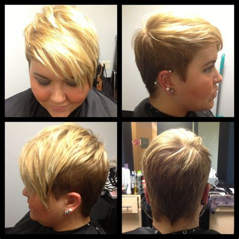 highlighting pixie hair at home undercut pixie pixie with blonde highlights hairology